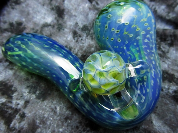 Extra Thick color changing bubble trap Sherlock with bridged honeycomb marble