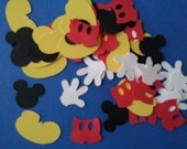 200 Mickey Mouse scrapbooking confetti / die cuts