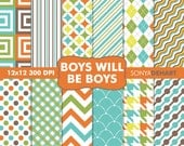 90% OFF SALE Digital Paper Boys Will Be Boys Background Patterns