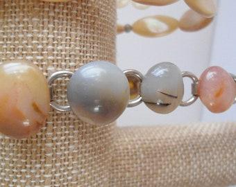 Vintage Multi Stone Bracelet   7.5 inches in length