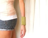 Brass Statement Cuff Bracelet- Recycled Pen Components