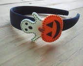 Halloween Headband, Pumpkin Headband, Ghost Headband, Girls Halloween Headband