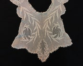 Vintage Crocheted Camisole Piece for Reuse Bodice in Ivory