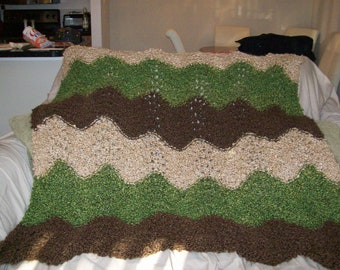 hand made ripple afghan