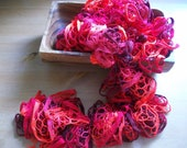 Red ,Ruffle Scarf,  READY TO SHIP