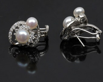 Fresh water Pearl with sterling silver stud earring