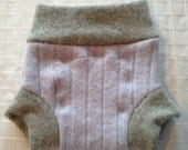 Upcycled Wool Diaper Soaker - Made from Recycled Sweaters - Size Newborn