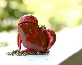 Heart-Shaped Crab Locket - Made To Order