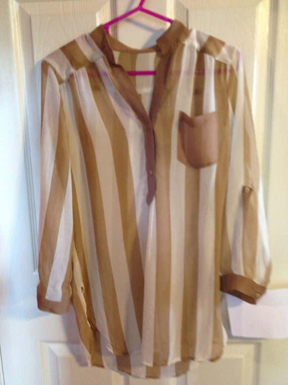 Striped Chiffon Blouse