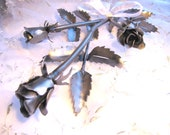 Roses Metal Art Sculpture Handmade from Recycled Metal