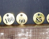 Vintage Brass Tag  / Numbered Tags Hotel Room, Key Chain Tag Fob Found Object Industrial Altered Art Steampunk Jewelry