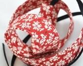 SLR Digital Camera Strap - Red and Cream Vintage Floral - dSLR Camera Strap - Designer Camera Strap, Stylish Camera Strap, Camera Strap dSLR