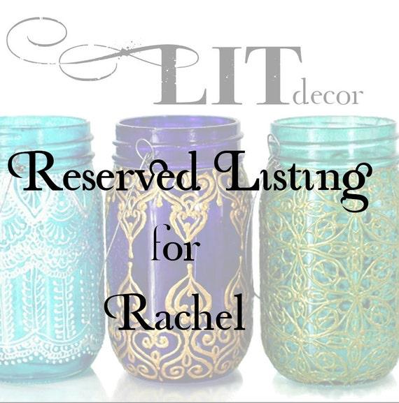 Reserved Listing for Rachel