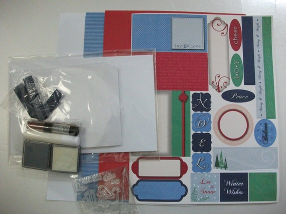RESERVED For TONI-Holiday Radiance-Creative Woman Kit of the Month-Cardmaking-Papercrafts-Complete Kit-DIY-Christmas Cards