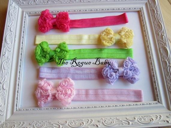 Baby Toddler Headband Set -  Photo Prop - Newborn Infant Baby Toddler Girls - 5 Headband Gift Set