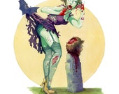 Midnight Snack- Sexy Zombie Pin-Up Art Print