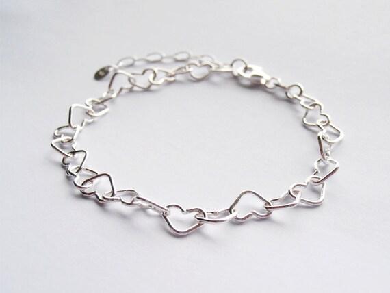 Silver Hearts Bracelet - Sterling Silver