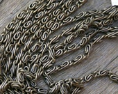 "Antiqued Bronze Metal ""S"" Rope Chain 60 inches"