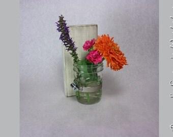 Mason Jar Wall Sconce  Vase Shabby Chic christmas gift Ivory