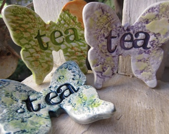 Three Butterfly Tea Bag Holders