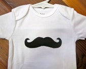 Mustache baby boy onesie