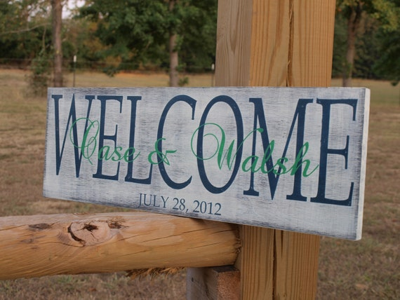 Wedding Established Sign. Personalized Family name sign.