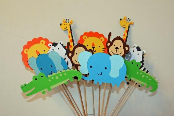 jungle zoo circus safari table decorations set of 24 jungle. Black Bedroom Furniture Sets. Home Design Ideas