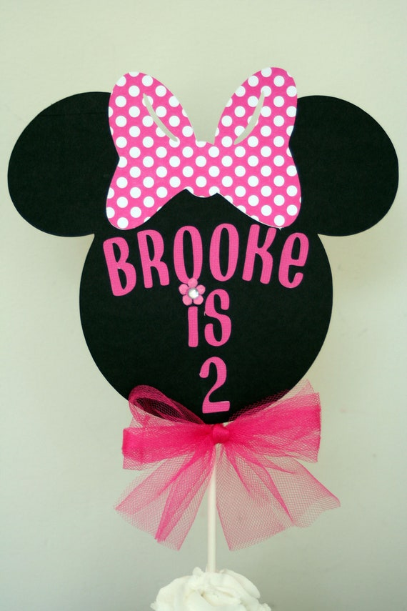 Minnie mouse cake topper minnie mouse smash cake topper for Baby minnie decoration