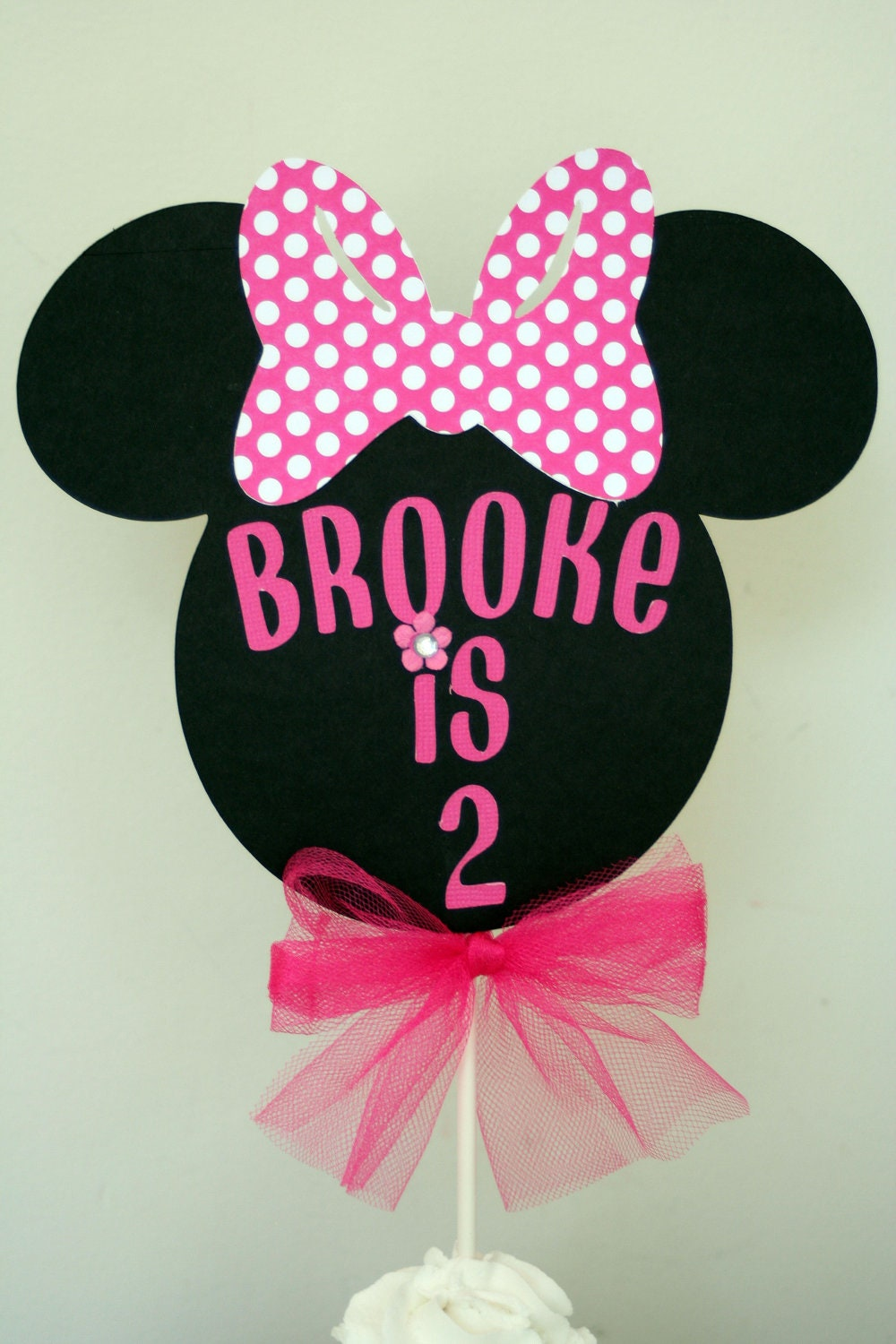 Minnie Mouse Cake Topper Minnie Mouse smash cake topper