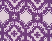 HUGE SALE- 1 Yard Fabric-Mod Mosaic in Plum  Annette Tatum FreeSpirit Fabrics