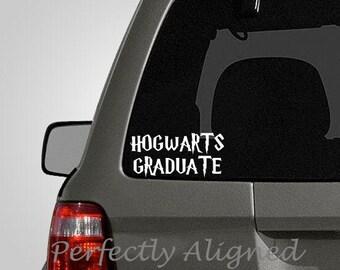 "Harry Potter Inspired ""HOGWARTS GRADUATE"" Vinyl Car Decal"