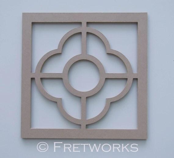 Unfinished Quatrefoil Panel No. 8100