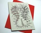 Seahorse Dance: A5 Handmade Greetings Card