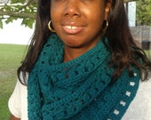 Teal Green Infinity Scarf