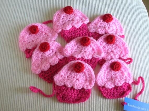 Cupcake Garland , Crochet, Birthday Decoration, Home Decoration