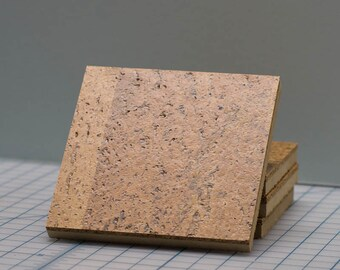 4 x 4  Recycled Cork Coaster, set of 4