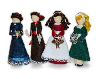 Little Women Clothespin Doll Ornament Kit: Meg, Jo, Beth and Amy March