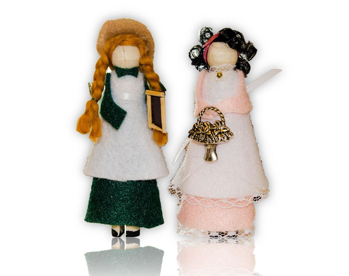 Anne Of Green Gables Clothespin Doll Ornament Kit Anne And