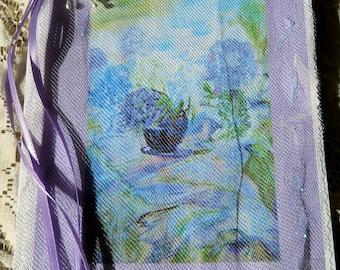 Lavender Blue Hydrangeas, Watercolor Art Prints, Hydrangea Cards, Mixed Media Florals, Kathleen Leasure, FromGlenToGlen