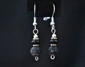 Perfect Little Black Drop Earrings