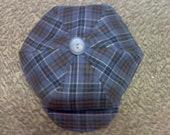 Newsboy hat, newspaper boy hat, Grey Plaid beret hat for boys