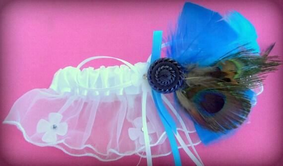 Wedding Accessory -Garter- Bridal Garter- Feather Wedding Garter