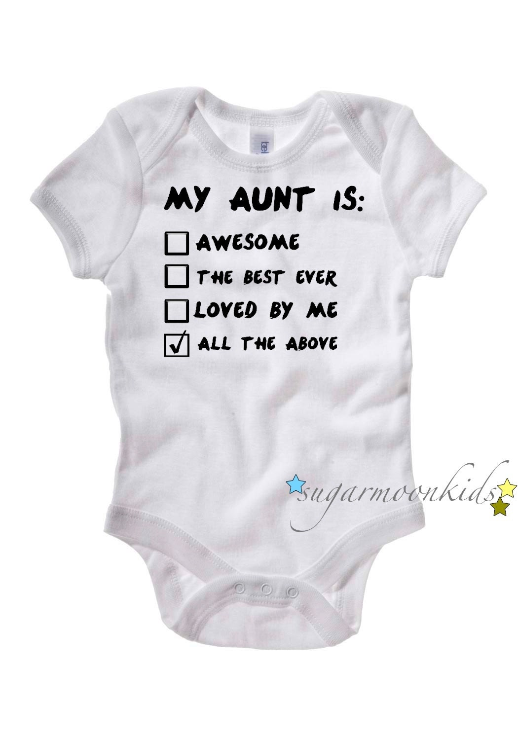 Baby Gifts From Great Aunt : Aunt baby onesie months by sugarmoonkids on etsy