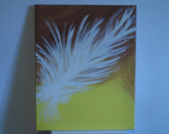 Feather of Flight 16x20 Modern Abstract Art Acrylic Handpainted Painting