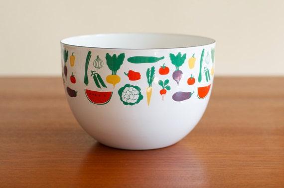 Mint Kaj Franck Enamel Large Vegetables Bowl Arabia Finland - Museum Quality