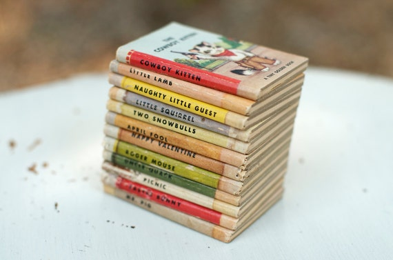 Vintage Miniature A Tiny Golden Books by Dorothy Kunhardt - Set of 12