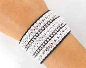 MJ Storm - Designer Friendship Bracelet with Chains, Thread & Crystals - Made To Order