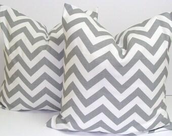 GRAY PILLOWS..20x20 inch.Pillow Covers..Gray Decorative Pillows.Housewares.Gray Chevron..ZigZag.Chevron.Grey Cushions.Cm.Home Decor.Gray.cm