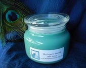 Blue Spruce Scented Soy Candle 12 oz Apothecary Jar Green