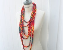 T-shirt necklaces scarf, gift women, unique handmade scarves, summer  august finds, Braided Infinity Scarf, Womens Scarves Scarf- By PiYOYO